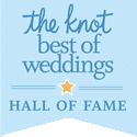 the knot's best of weddings hall of fame badge